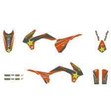 New KTM SX SXF 250 350 450 13-15 EXC 14-16 Rockstar Graphics & Seat Cover 8538L
